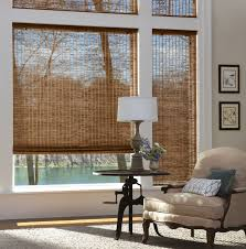 provenance woven wood shades with cordlock in the living room