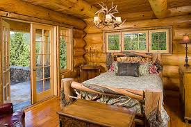 Log Home Bedrooms Log Home Design A Handcrafted Montana Home Home Design Garden