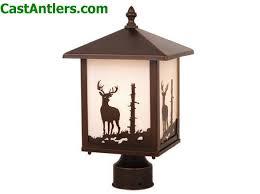 Outdoor Post Light Outdoor Lighting Outdoor Post Light Deer Rustic Lighting And