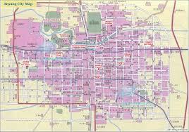 Luoyang China Map by City Guide Anyang Municipality Henan China