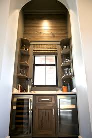 Kitchen Cabinets Bars by This Wine Nook Dry Bar Is Designed In A Stained Pecky Cypress To