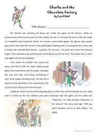5 free esl charlie and the chocolate factory worksheets