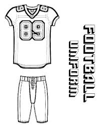 printable football jersey coloring page coloring pages for kids