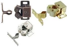 Cabinet Door Roller Catch by Spring Loaded Cabinet Door Roller Catch Screws Brass Chrome Or