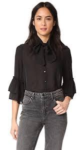 bow tie blouse l agence desa bow tie blouse shopbop