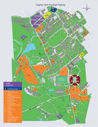 Vt Map Vt Home Football Games Parking And Transportation Virginiatech
