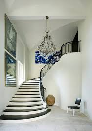 Melanie Turner Interiors Iron Staircase Hand Rail Transitional Entrance Foyer Melanie