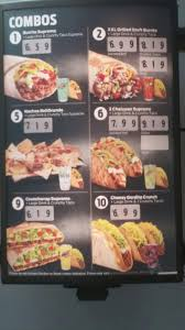 taco bell menu prices 2017 meal items details u0026 cost