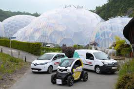 renault electric vehicles for eden project business car manager