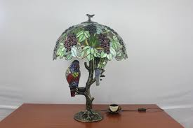 Bird And Branch Table Lamp by Branch Birds Tiffany Art Table Lamp Parrotuncle Cashorika