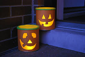 halloween luminaries from recycled baby formula cans merriment