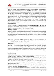05 gsm bss network kpi tch congestion rate optimization manual