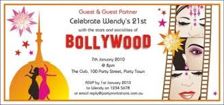 bollywood invitation