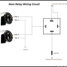 relay wiring diagram horn wiring diagrams instruction
