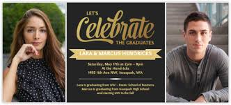 graduation party invitations graduation announcements for joint graduation party
