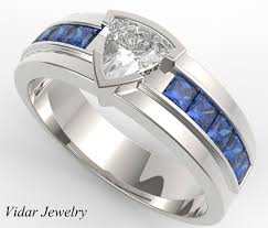 wedding bands for him custom band him blue band for him his sapphire ring blue