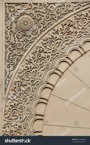 moroccan architecture engrave details stock photo 100046408