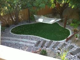 artificial grass lawn before 11471 1 easyturf backyard synthetic