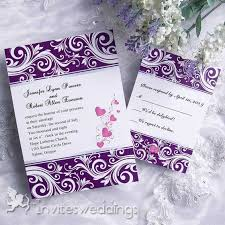 purple wedding invitations creative noble purple wedding invitation iwi088 wedding
