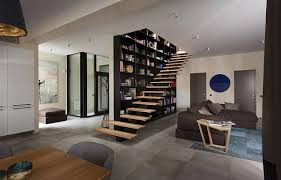 the interior design decoration to place a huge bookshelf in living