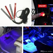 Led Light Strip Car by Car 4in1 Led Interior Trim Atmosphere Glow Light Strip Blue Neon