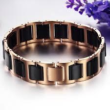 gold tone stainless steel bracelet images Boniskiss rose gold tone stainless steel combine with black ceramic br jpg