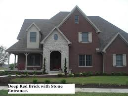 red brick home stones
