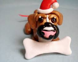 boxer ornament etsy