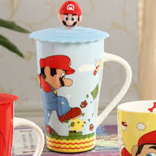 1pcs new keyama super mario cartoon ceramic breakfast milk mug
