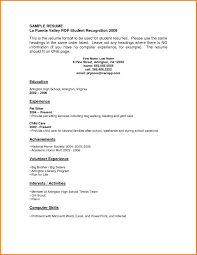 resume template with no work experience resumes for high school students with no work experience resume
