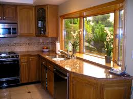 Kitchen Bay Window Curtain Ideas Bathroom Attractive Stylish Kitchen Window Treatment Ideas