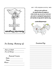 7 best images of free printable memorial card templates free