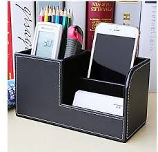 Desk Organizer Leather Home Office Pu Leather Desk Organizer Multifunctional