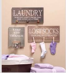 Diy Laundry Room Decor Diy Laundry Room Decorall You Need Wooden Boards Change Jar Nails