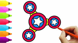 coloring page fidget spinner captain america lvideos for