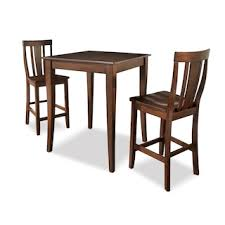 Kitchen Bistro Table And 2 Chairs Monti Pub Table And 2 Chairs Black American Signature Furniture