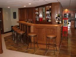 charming custom basement bars on interior with finished basements