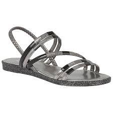 lotus bastia black multi elastic flat sandals silver women u0027s shoes