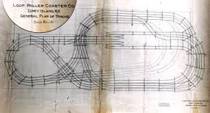 original architectural plan delineating the track for coney