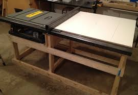 diy table saw stand with wheels saw station