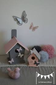 création déco chambre bébé décoration chambre enfant bébé nichoir oiseau maisonnette étoiles