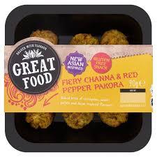 308 best snacks images on morrisons fiery channa pepper pakora bite snacks 90g product