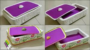 plaster of paris jewelry box tutorial yellow craft handmade