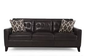 Leather Sofa Furniture Boulevard Grey Leather Sofa Mathis Brothers Furniture