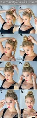Hochsteckfrisurenen Selber Machen Einfach Schnell by Die Besten 25 Lässige Dutt Frisuren Ideen Auf