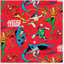 superman wrapping paper justice league jumbo christmas wrapping paper roll 80 sq ft