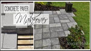 Concrete Patio Blocks Paver Patio Makeover Patio Makeover Concrete Pavers And Patios