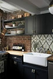 cuisine en brique idee deco mural salon 9 cuisine brique bois chaios get green
