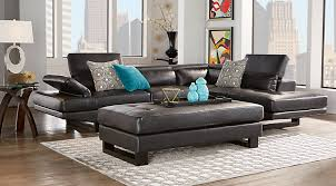 Living Room With Black Leather Furniture by Sectional Sofa Sets Large U0026 Small Sectional Couches