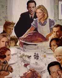thanksgiving dinner table with search dominion